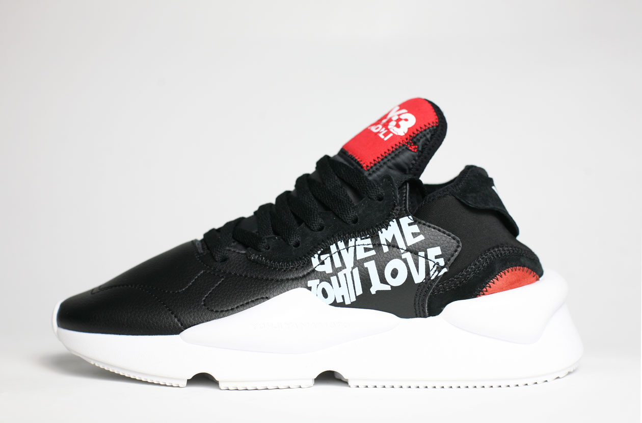 кроссовки Adidas Y-3 Kaiwa Black / White / Red