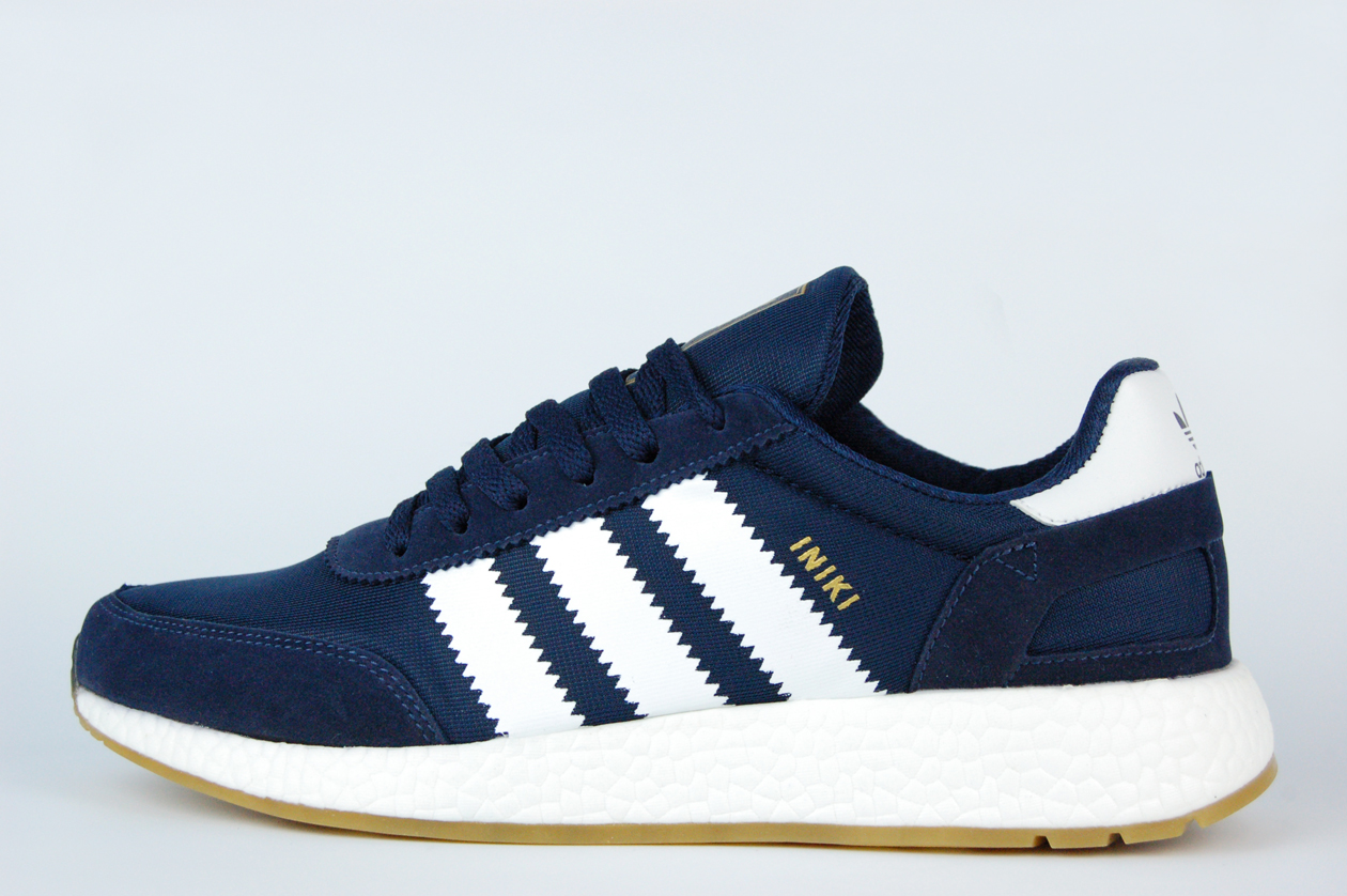 кроссовки Adidas Iniki Runner Boost Navy / White