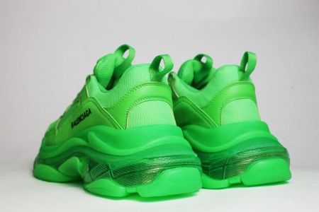кроссовки Balenciaga Triple S Neon Green / Clear Sole