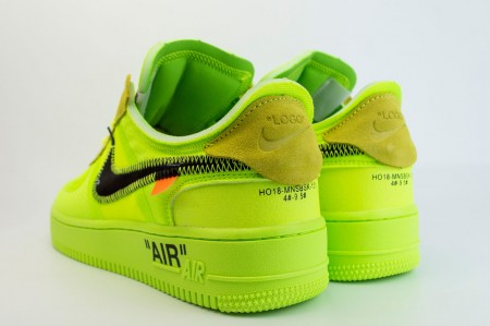 кроссовки Nike Air Force 1 Low x Off-White Volt