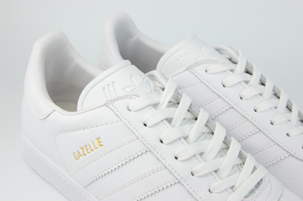 кроссовки Adidas Gazelle Leather Triple White