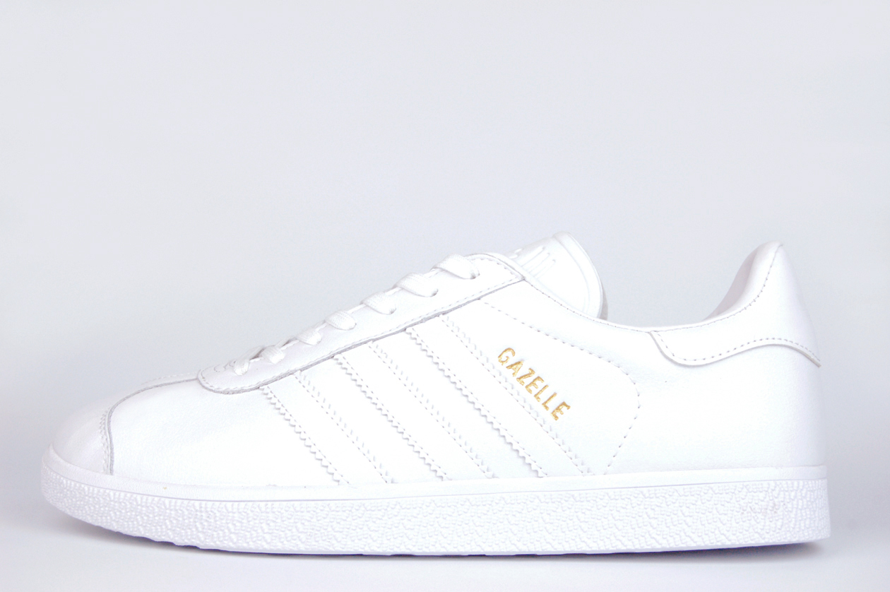кроссовки Adidas Gazelle Leather Triple White