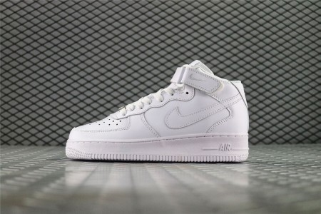Кроссовки женские Nike Air Force 1 Mid WMNS Leather Triple White