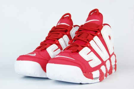 Кроссовки Nike Air More Uptempo x Supreme Red