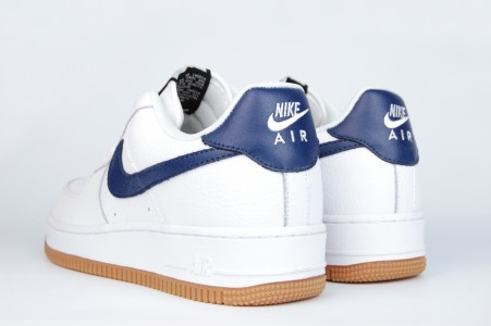 Кроссовки Nike Air Force 1 White Blue Swoosh