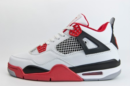 Кроссовки Nike Air Jordan 4 Retro White / Red